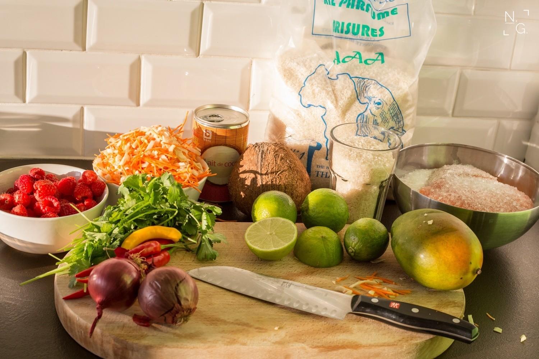 Lachs Ceviche mit Mango Sticky Rice